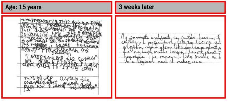 Handwriting help for teenagers