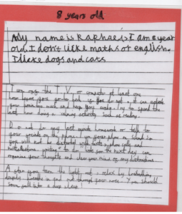 handwriting teachers in the UK